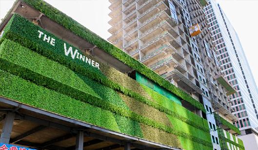 太古里赢家户外植物墙案例