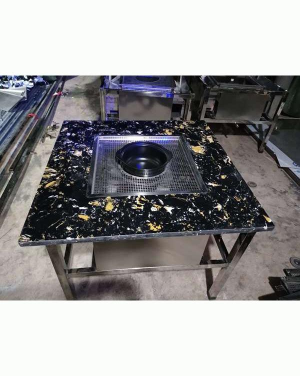 大理石不锈钢烧烤桌