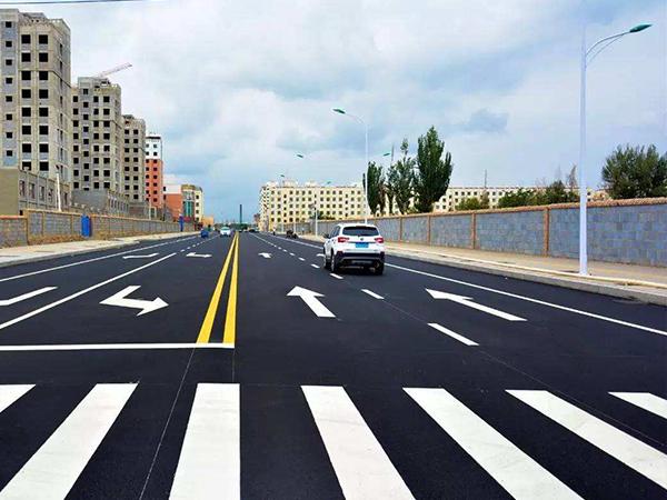 沥青路面标线施工