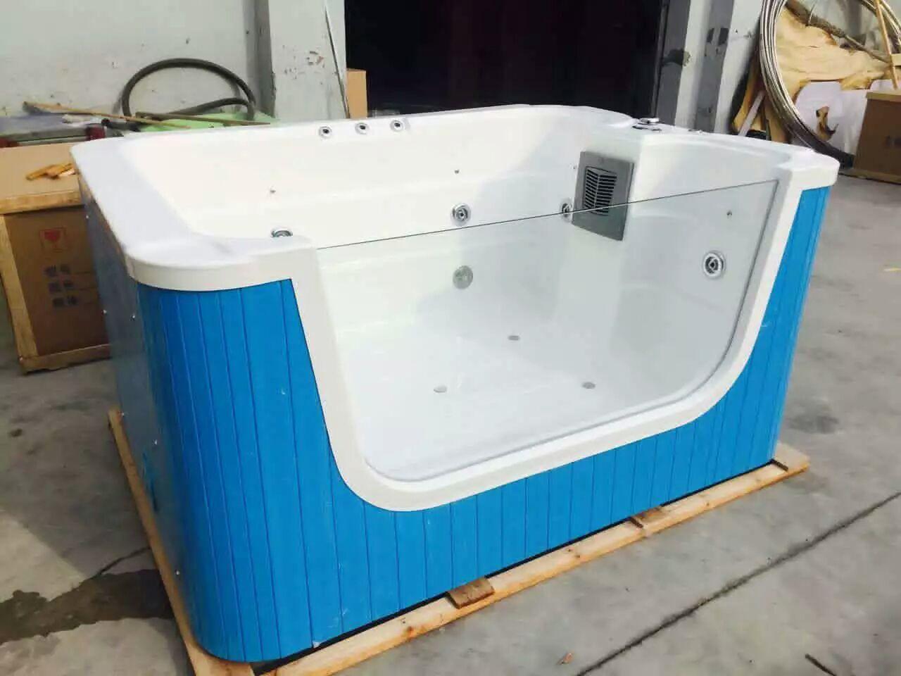 内白外蓝色单面玻璃功能池