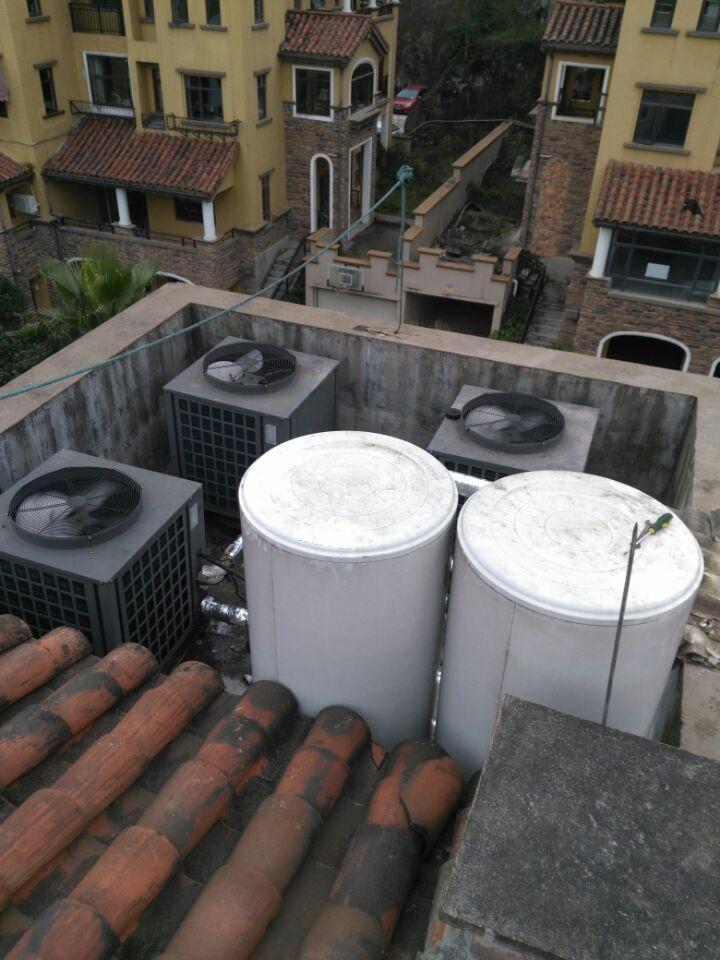 花溪班芙小镇的别墅空气能热水器案例