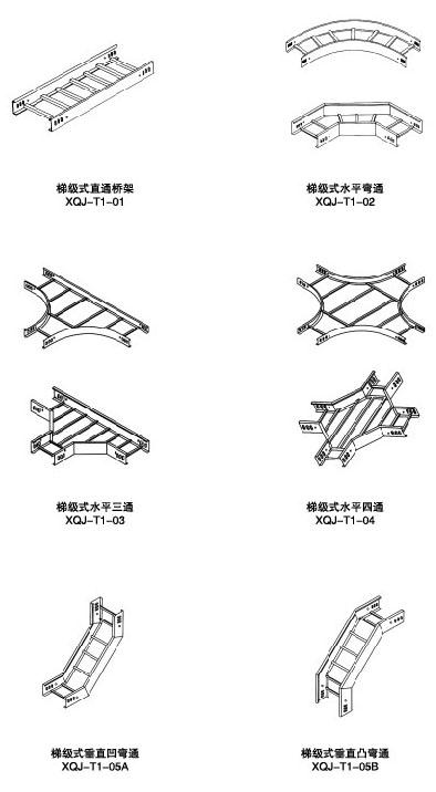 钢制梯式电缆桥架