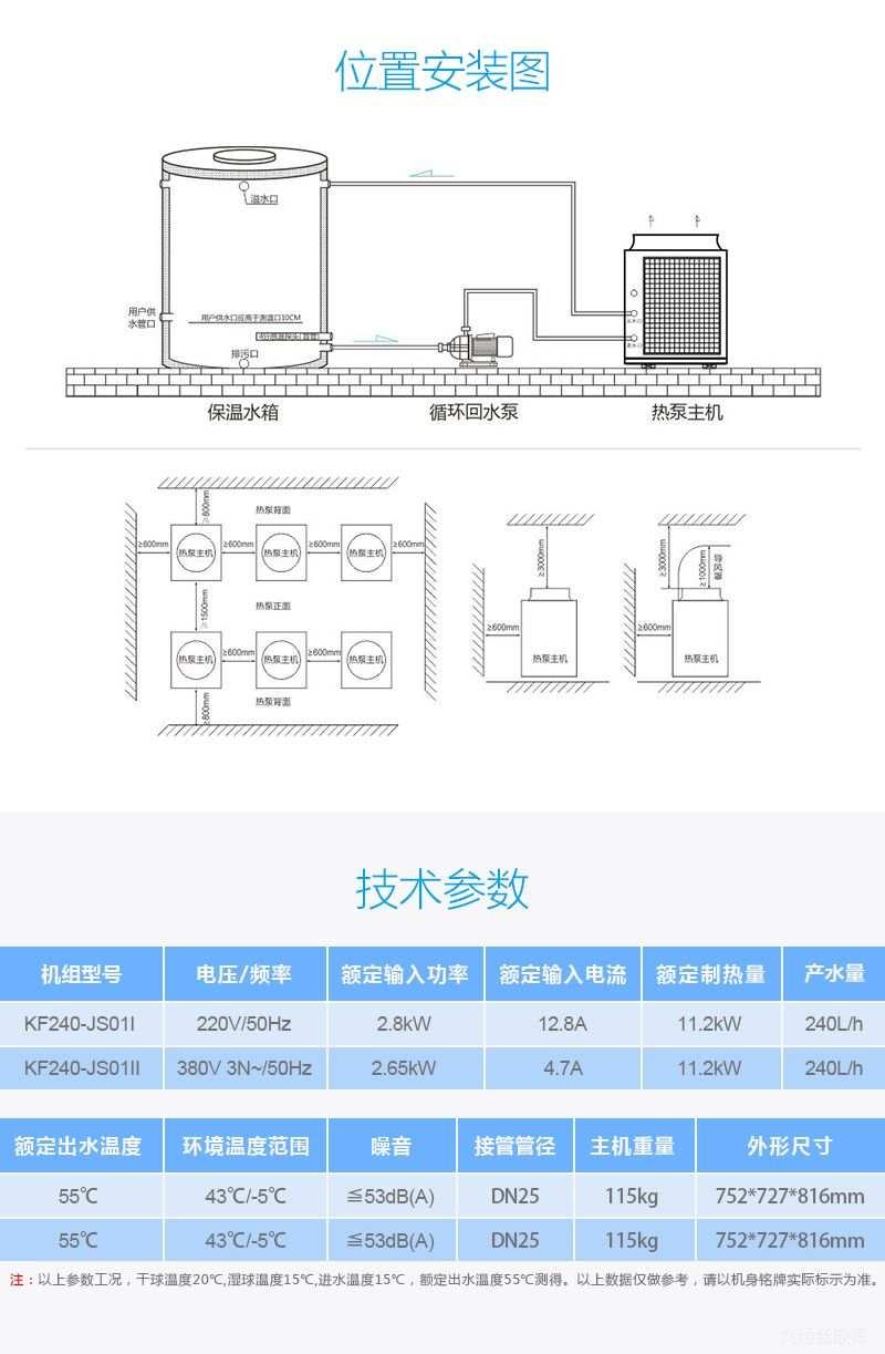 3P空气能热泵热水器