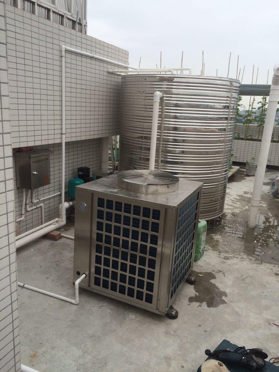 贵州桑拿热水工程——空气能热水器安装