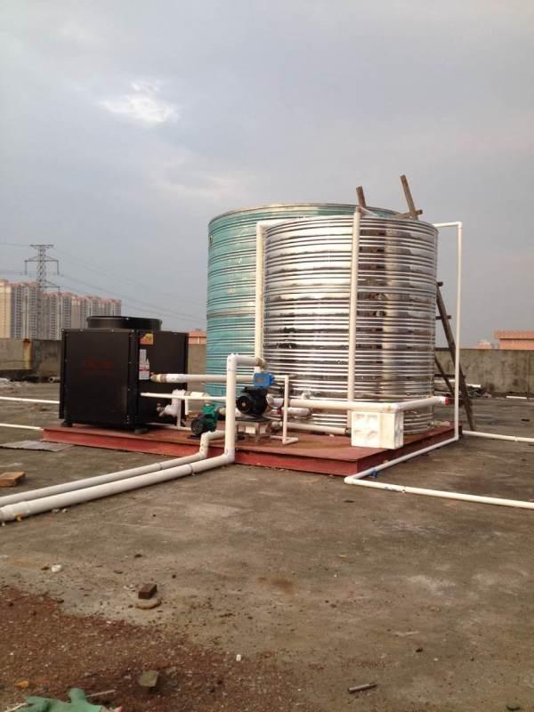 贵州足浴热水工程——空气能热水器安装