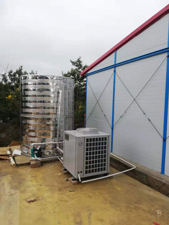 工地空氣能熱水器裝置