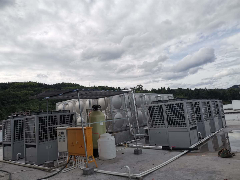 学校宿舍空气能热水器安装案例