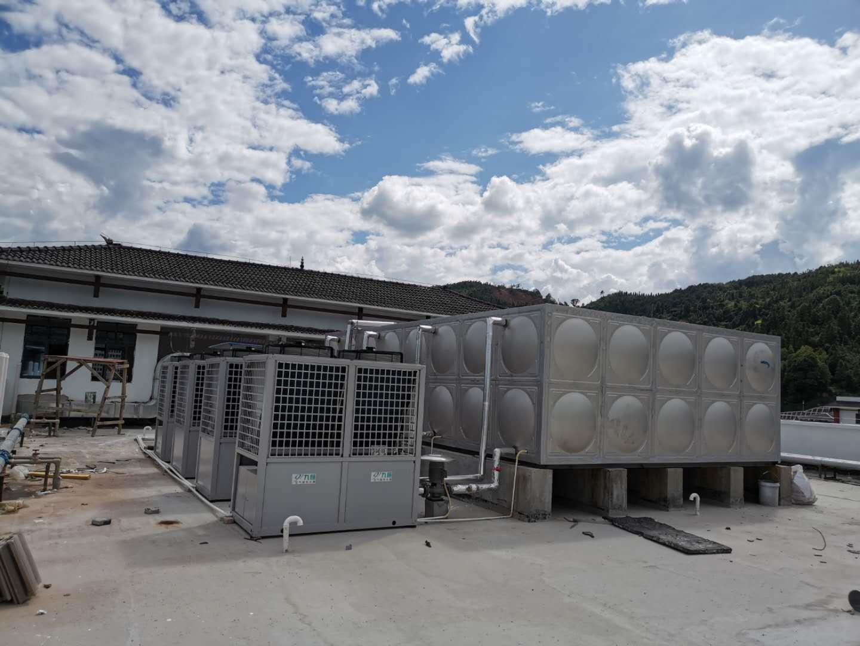 学校宿舍空气能热水器安装