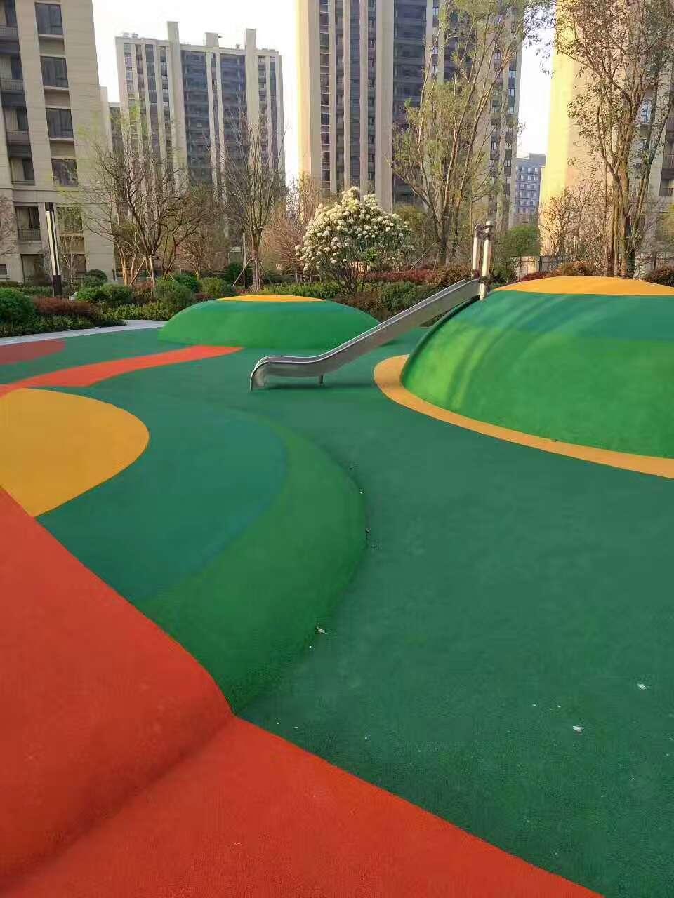 塑胶跑道案例——遵义新铺湿地公园