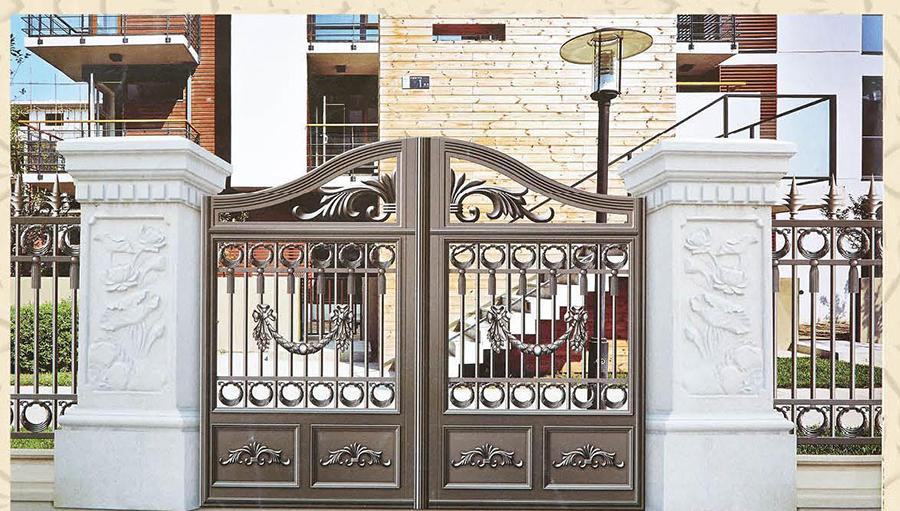 为什么豪华别墅都用铁艺大门?