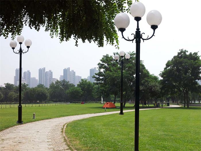 贵州公园路灯安装案例