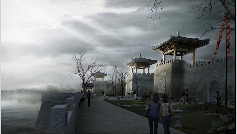 貴陽仿古城墻建造