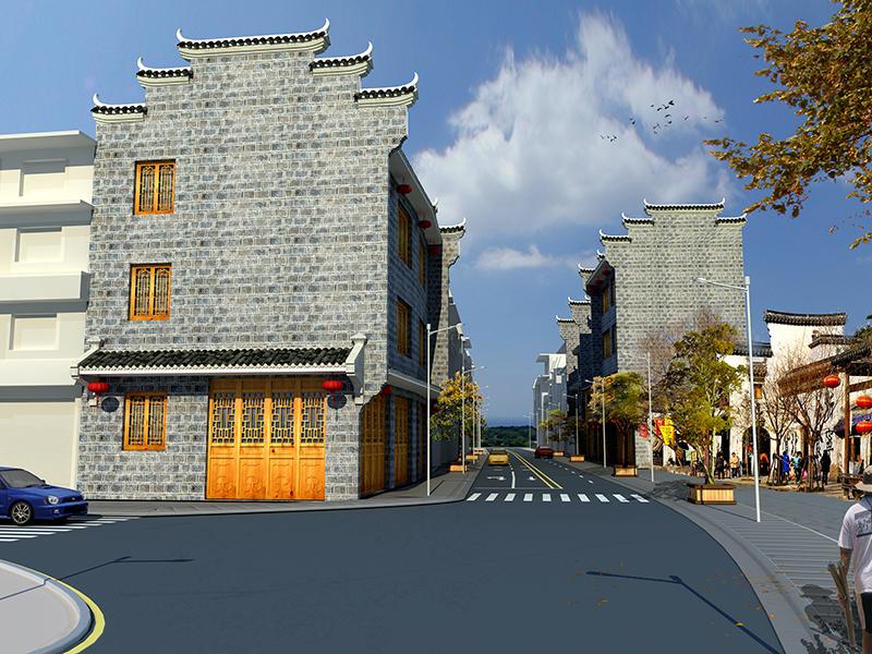 黃平舊州古街效果圖——貴州古鎮街道建設