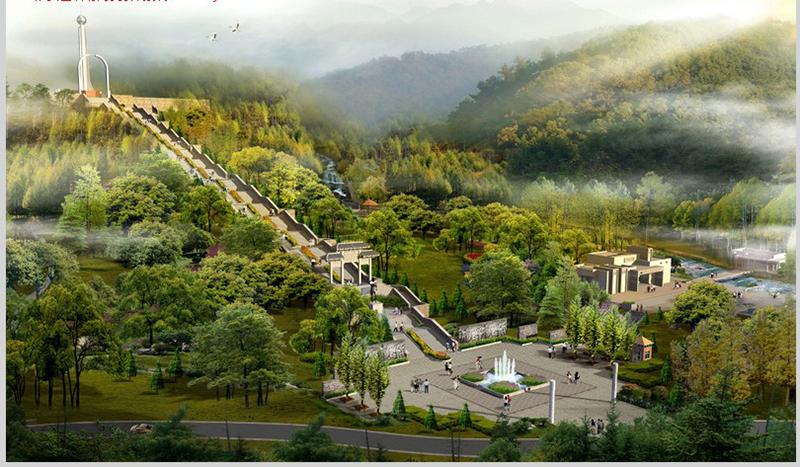 烈士墓效果圖——貴州烈士墓建造