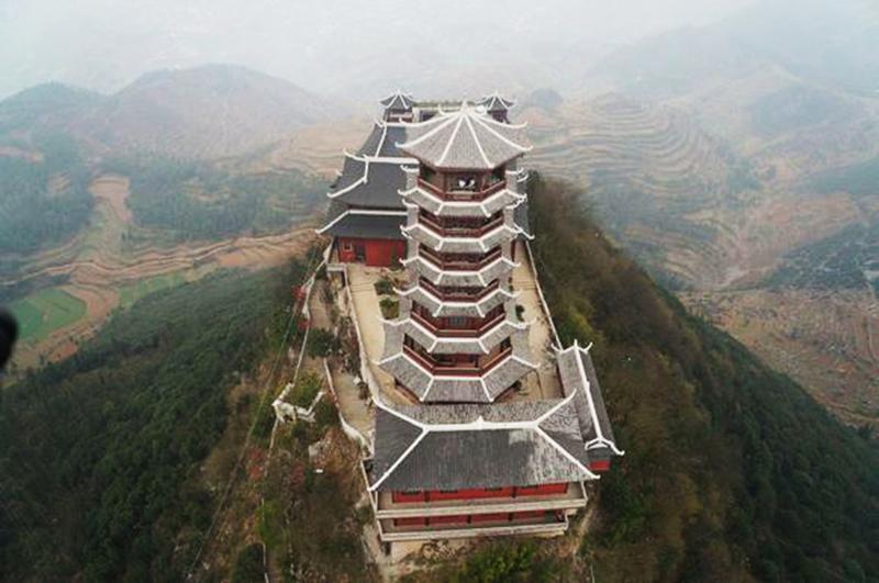盤縣丹霞山——貴州寺廟修建