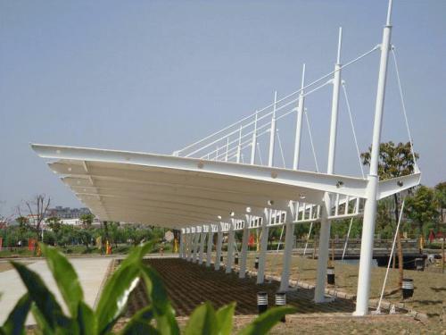 膜结构停车棚在钢结构部分的处理事宜是怎样的