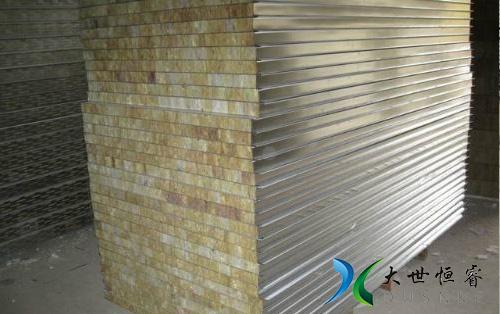 岩棉保温隔热彩钢夹芯板