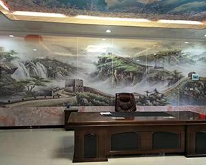 彩瓷板办公室墙面
