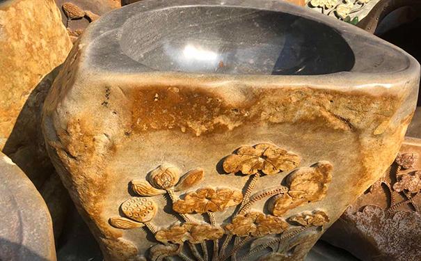 砚石洗手盆