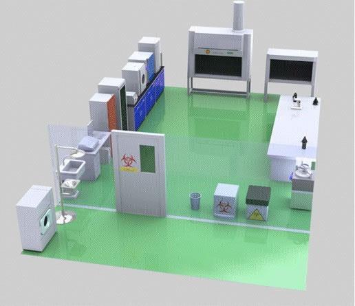 微生物实验室规划配置仪器标准改造_建筑项目家具设计师设计王1.8图片
