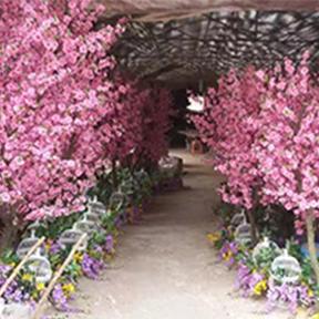 室内仿真桃树景观