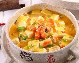 石锅蟹黄豆腐