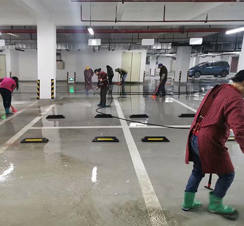 地下停车场亚洲保洁