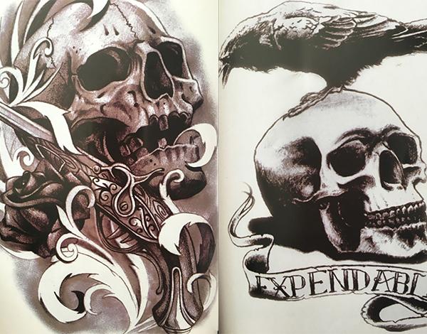 骷髅刺青图案