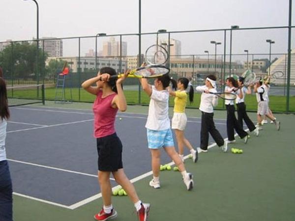 在网球培训班中该如何来调整合适的手臂力量?