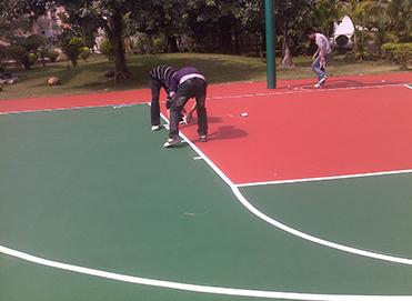 硅pu篮球场地坪工程案例