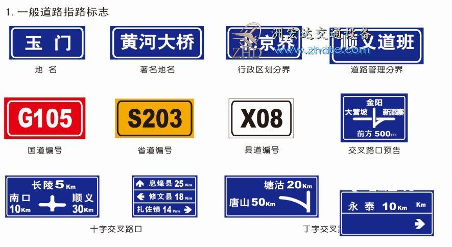 一般道路指示标志