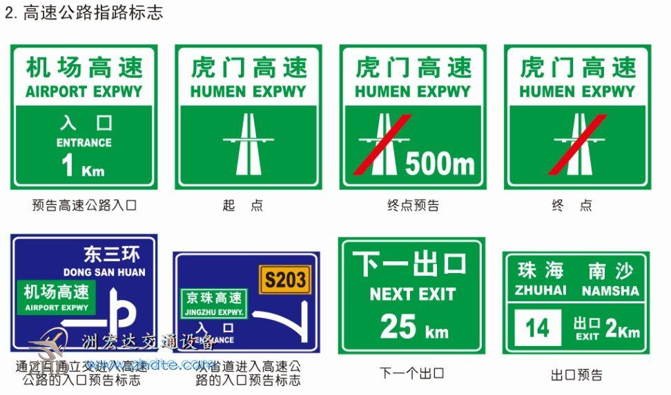 高速公路指示标志