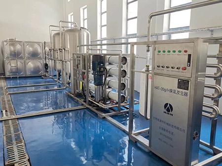 为拉萨圣泽饮用水厂提供水处理等设备