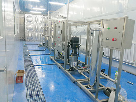 为甘肃凯泉饮品公司提供水处理等设备