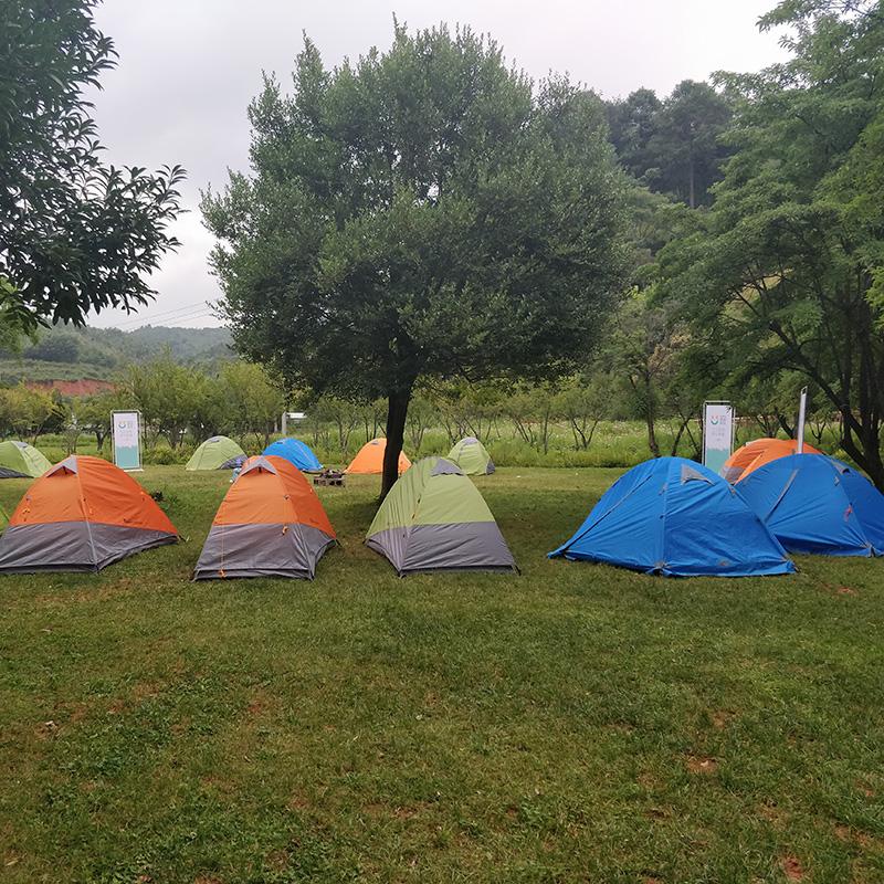 户外休闲-搭帐篷