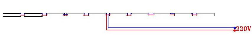 如图为内控led数码管接线草图
