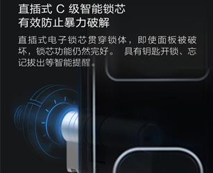 指纹锁家用防盗门密码锁智能门锁电子锁防猫眼HEJ-LIGBLA1