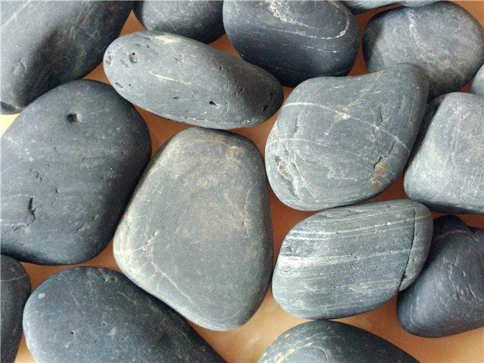 天然黑色鹅卵石5-8cm