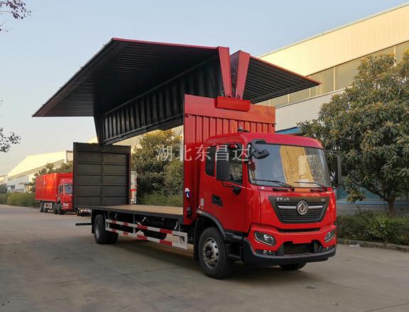 东风天锦KR国五6.8米型翼开启厢式车