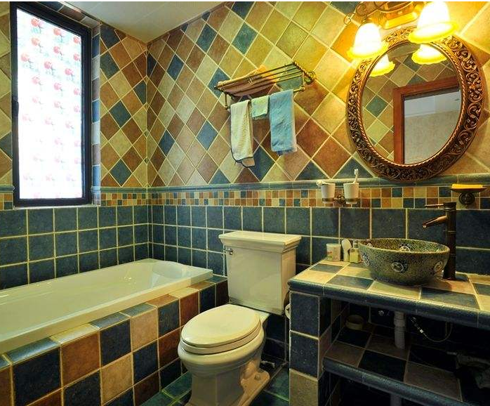 襄阳美式乡村卫生间装修