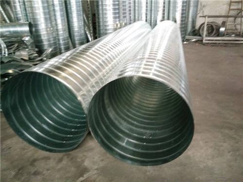 螺旋风管的安装显著地减少了管与管之间的连接点