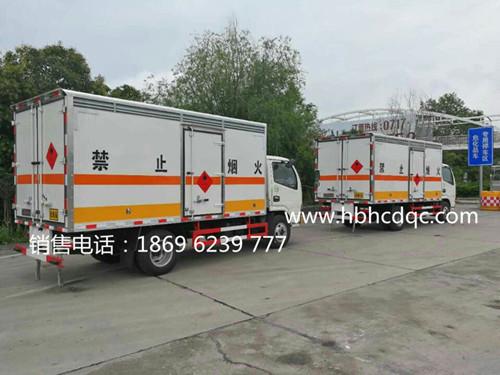 东风多利卡1.215吨国五易燃气体厢式运输车