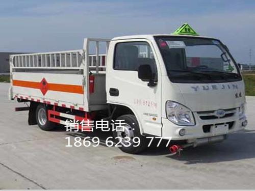 跃进小福星柴油1.415吨3米25栏板栅栏气瓶运输车