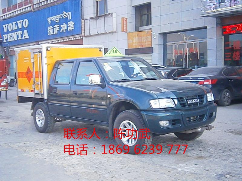 新客户聂总从湖北虹昌达定购的庆铃皮卡雷管车1台---供方代送车