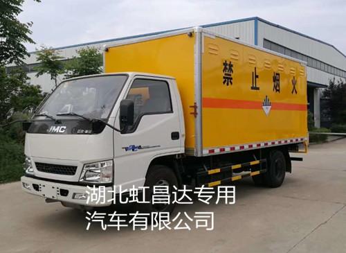 江铃1.415吨4米2杂项危险物品厢式运输车