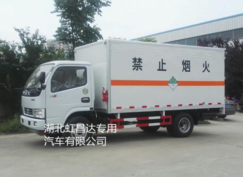 东风多利卡3.365吨4.12米杂项危险物品厢式运输车