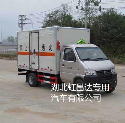 东风俊风后双轮1.2吨3米4小型杂项危险物品厢式运输车