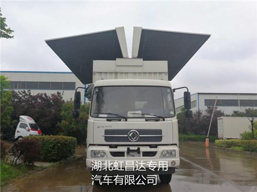 东风天锦9.705吨6.2米6.8米翼开启厢式车