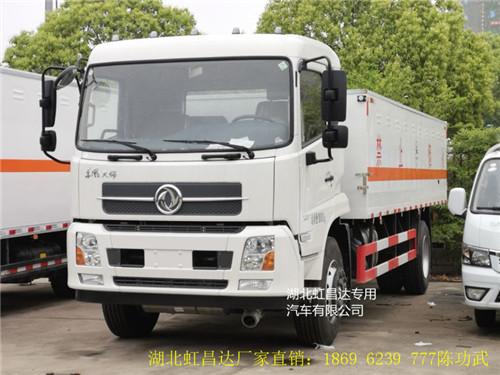 东风天锦9.93吨6.6米毒性气体厢式运输车