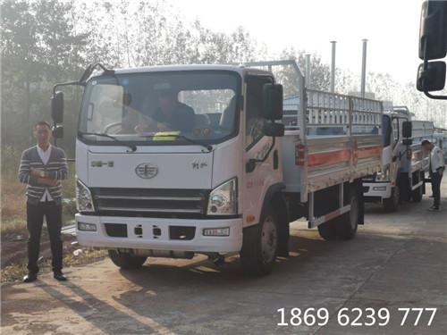 解放7.9吨5.15米仓栏气瓶运输车